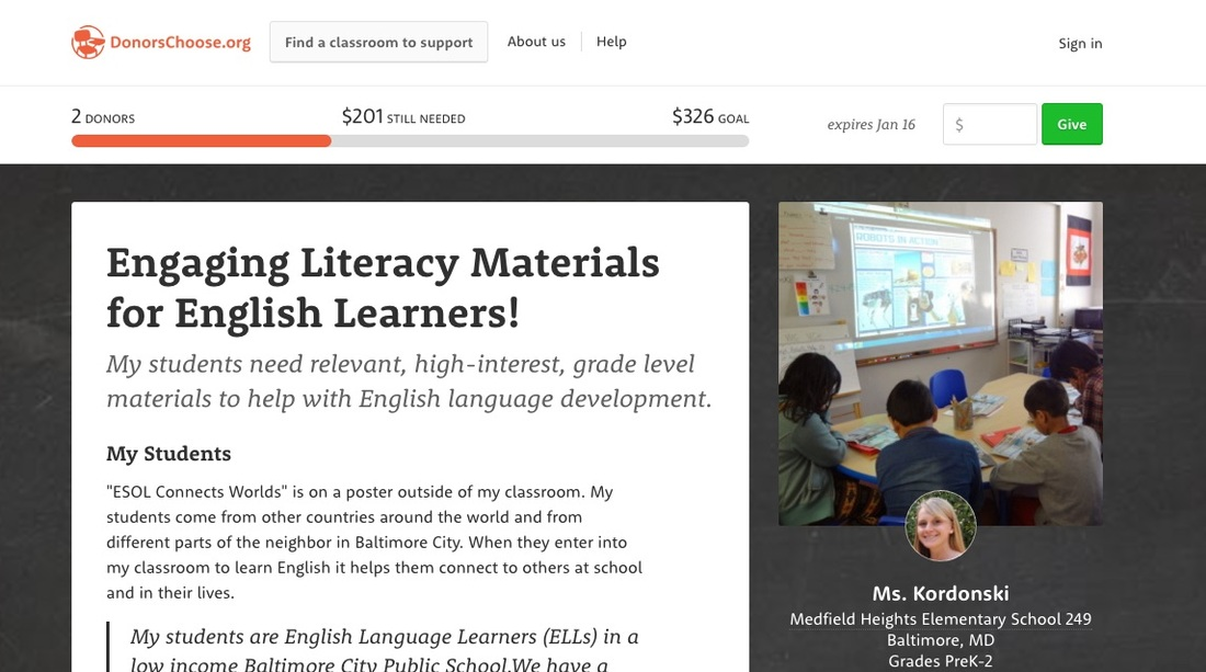 Campaign to Support ELL Student Learning Materials